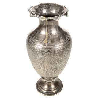 Antique Persian Silver Vase