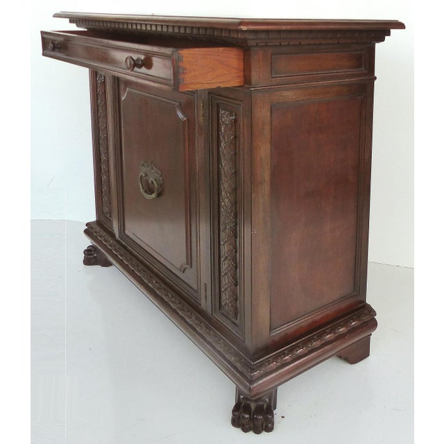 1930 S. Pagano Carved Lion Paw Cabinet - Image 6 of 10