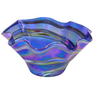 Blue Rainbow Studio Glass Bowl