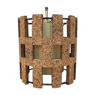 Mid-Century Cork Pendant Light