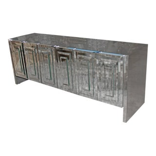 Ello Six-Door Mirrored Chrome Credenza