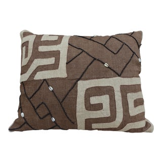 African Kuba Cloth Pillow with Shells