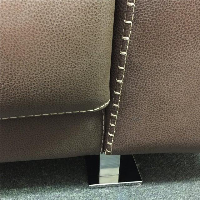 Roche Bobois Urban Leather Loveseat - Image 10 of 10