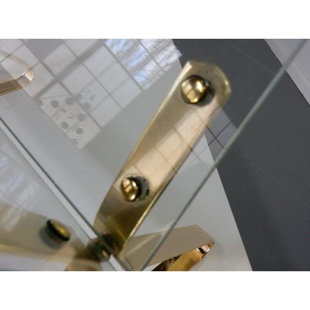 Image of Milo Baughman Glass and Brass Magazine Rack