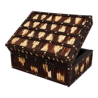 19th-Century Ebony & Quill Box