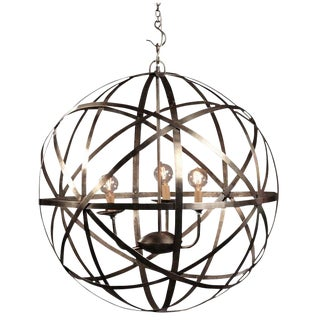 Industrial Iron Orb Chandelier