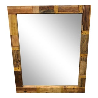 New Reclaimed Salvage Wood Biodiversity Mirror