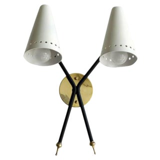 French Double-Arm Wall Light by Arlus