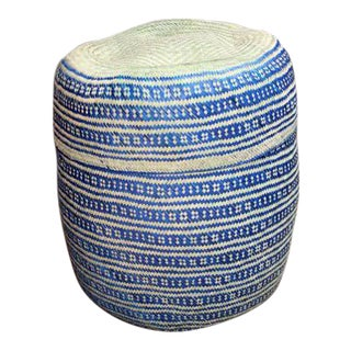 Hand-Woven Tenate Oaxacan Basket in Yellow & Blue