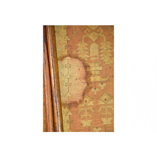 Antique Hand-Dyed Linen Tapestry Room Screen - Image 6 of 7