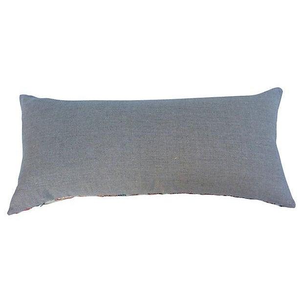 Japanese Obi Silk Metallic Pillow - Image 2 of 6