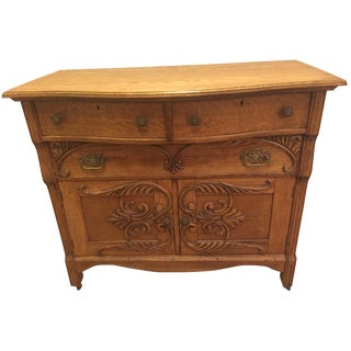Oak Carved Farmhouse Sideboard