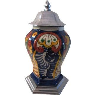 Mexican Talavera Pottery Ginger Jar
