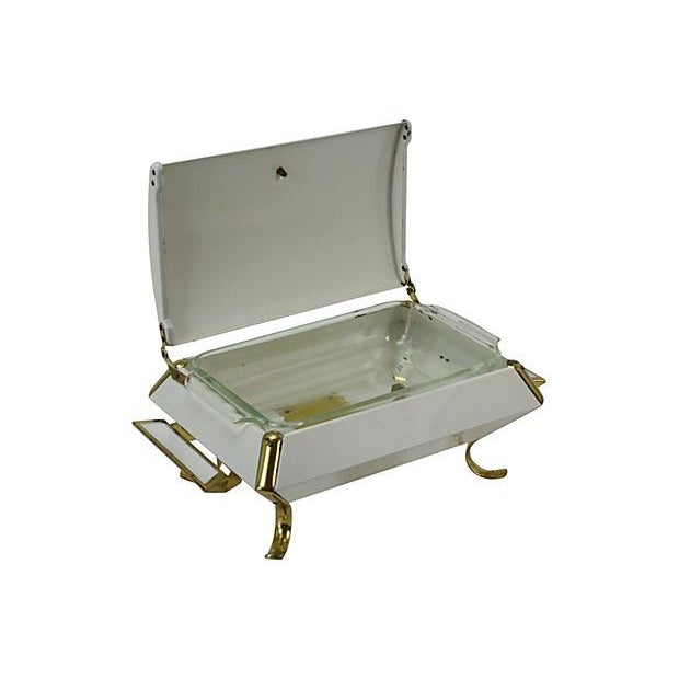 Hollywood Regency White and Gold Buffet Server - Image 3 of 5