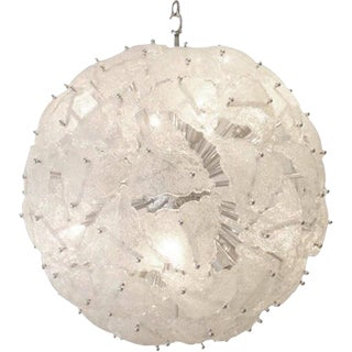 Mazzega Very Large-Scale Mid-Century Glass Sputnik Chandelier Italy circa 1960