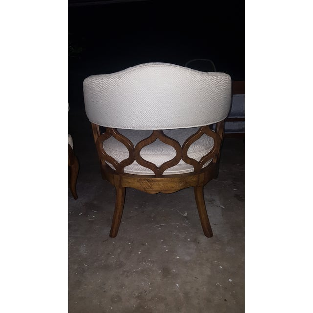 Vintage Barrel Back Chairs - Pair - Image 6 of 8