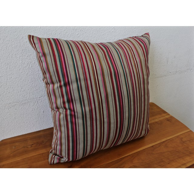 Contemporary Striped Pillow - Image 3 of 4