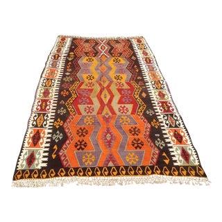 Turkish Vintage Kilim Rug - 5′ × 8′2″