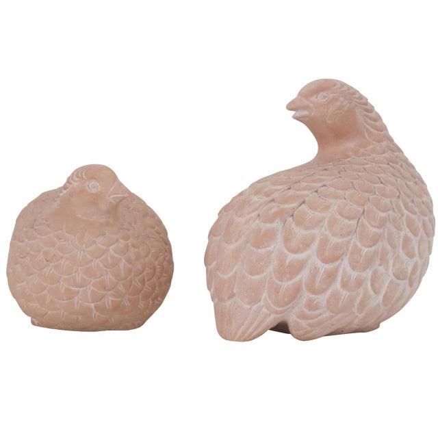 Terracotta Quails - A Pair - Image 1 of 6