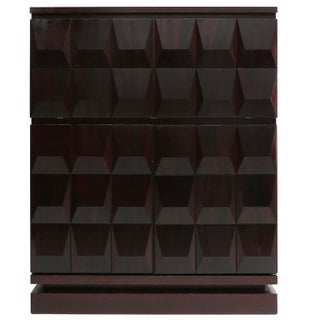 Brutalist Diamond Bar Cabinet