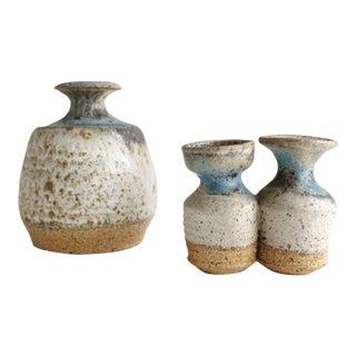 Mid Century Modern Ceramic Studio Pottery Bud Vases - Set of 3