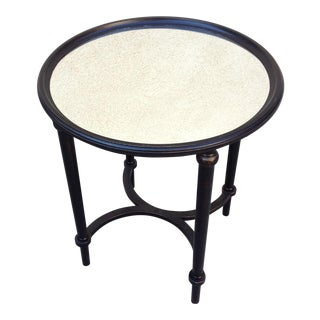 Round Chinoiserie Mirror Accent Table