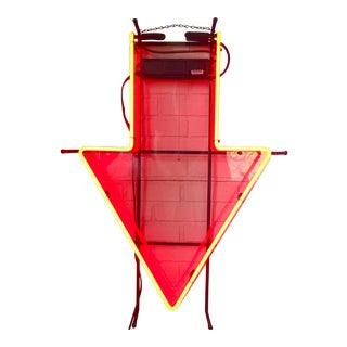 Vintage Neon Red Arrow