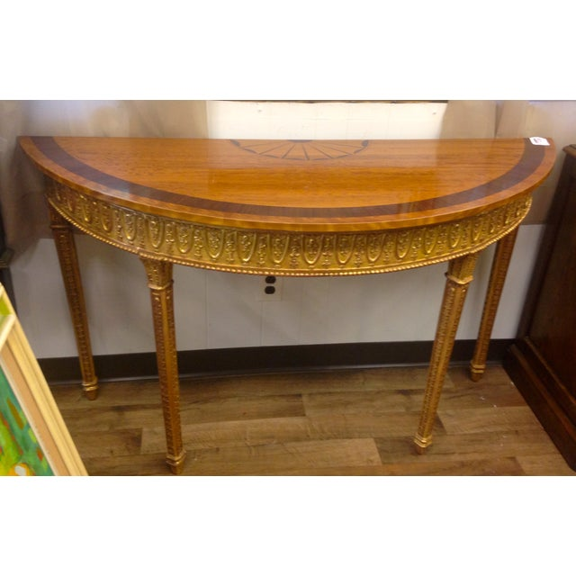 Image of Wooden Demilune Table