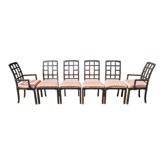 Thomasville Chinoiserie Greek Key Dining Chairs - Set of 6