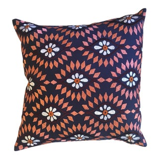 Tulasi Navy & Orange Pillow