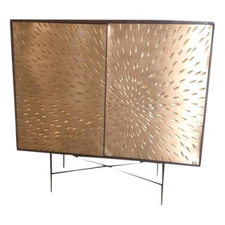 Contemporary Wooden Metal Living Room Cornell Chest Cabinet