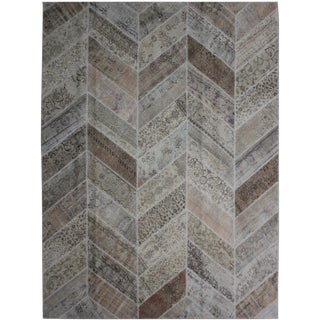 """Aara Rugs Inc. Hand Knotted Patchwork Rug - 10'1"""" X 8'1"""""""