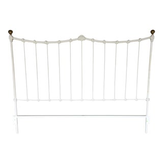 Elliott's Designs King Size Cast Iron Headboard With Brass Balls