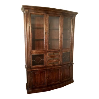 Vintage Wood China Cabinet