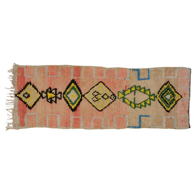 Vintage Moroccan Berber Tribal Design Runner - 3'8 x 8' - Image 7 of 7