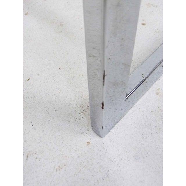 Milo Baughman Style Flat Bar Chrome Cantilever Bar Stools - A Pair - Image 10 of 10