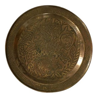 Bronze Vintage African Plate