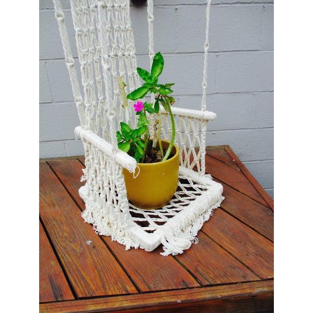 Bohemian Macrame Plant Swing - Image 8 of 11