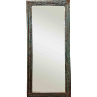 Turquoise Blue Framed Mirror