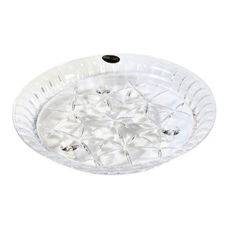 Crystal Footed Cake Plate