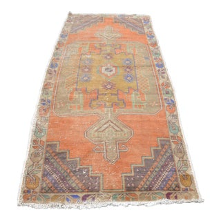 Turkish Oushak Handwoven Rug - 3′7″ × 8′7″
