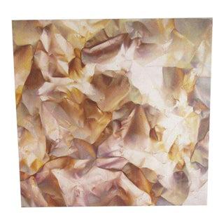 "Paul Kane 1978 ""Vocabulary"" Photo Realist Airbrushed Acrylic of Crinkled Paper"