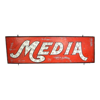 Large Vintage Lighted Sign