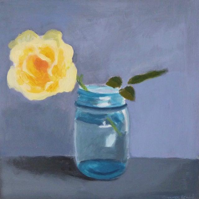 "Original Painting ""Yellow Rose"" - Image 6 of 7"