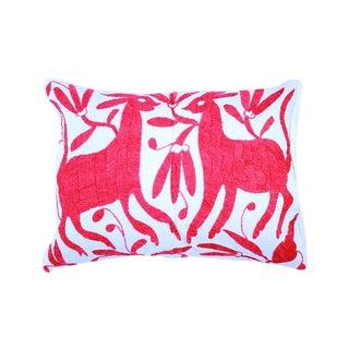 Pink Handwoven Otomi Pillow