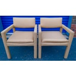 Image of Milo Baughman & Thayer Coggin Parsons Arm Chairs - A Pair