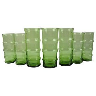 Mid-Century Bamboo Glasses - Set of 7