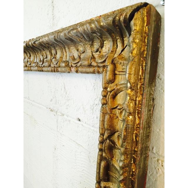 Over-Sized Large Vintage Gold Tone Carved Wood & Gesso Frame - Image 3 of 10