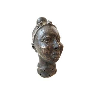African Queen Benin Ife Bronze Portrait Sculpture