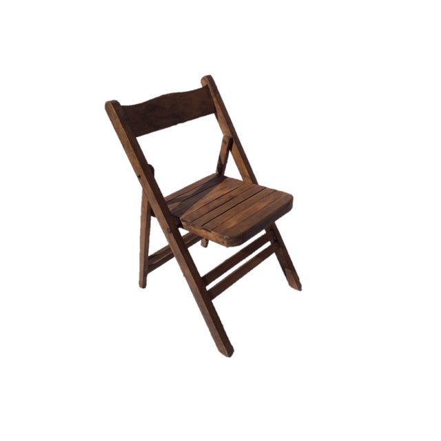 Vintage Wooden Folding Chair - Image 3 of 4